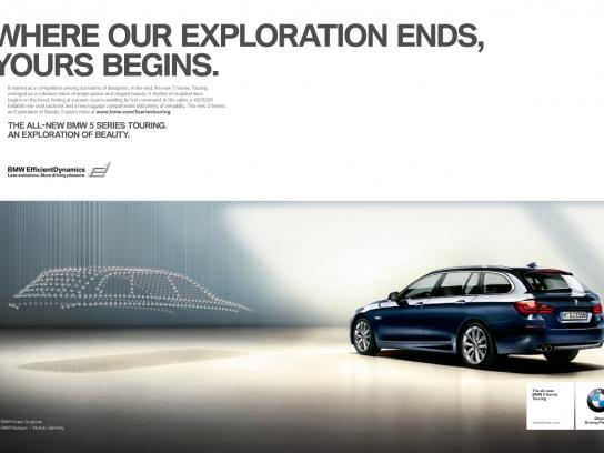 BMW Print Ad -  Where our Exploration Ends, Yours Begins