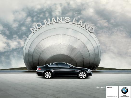 BMW Print Ad -  No man's land