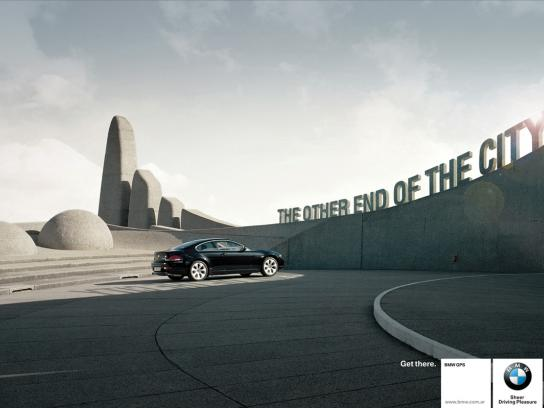 BMW Print Ad -  The other end of the city