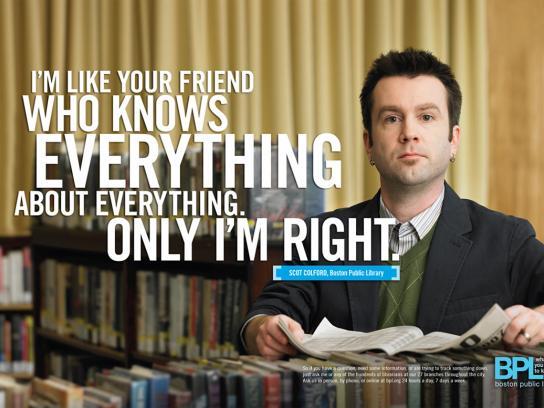 Boston Public Library Print Ad -  Right