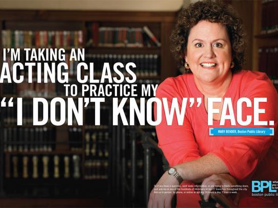 Boston Public Library Print Ad -  Face