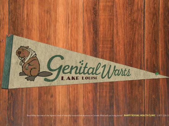 Banff Sexual Health Clinic Print Ad -  Genital Warts