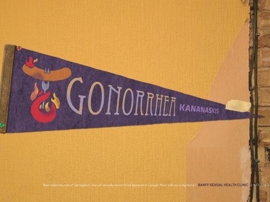 Banff Sexual Health Clinic Print Ad -  Gonorrhea