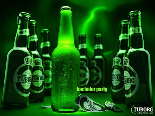 Tuborg Print Ad -  Bachelor party