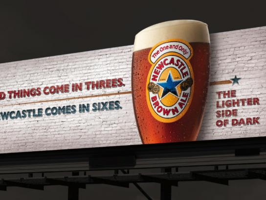 Newcastle Brown Ale Outdoor Ad -  Bad things