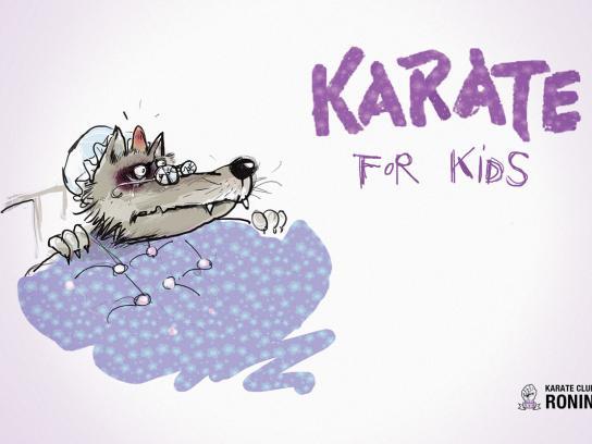 Karate Club Ronin Print Ad -  Bad wolf