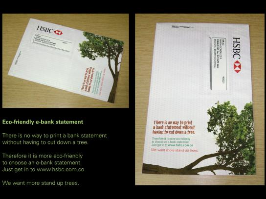HSBC Direct Ad -  Eco-friendly e-bank statement