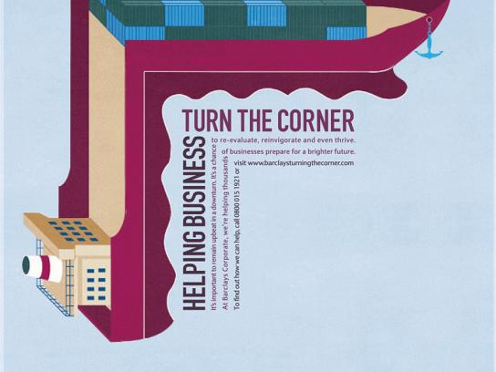 Barclays Print Ad -  Helping business turn the corner, Shipping
