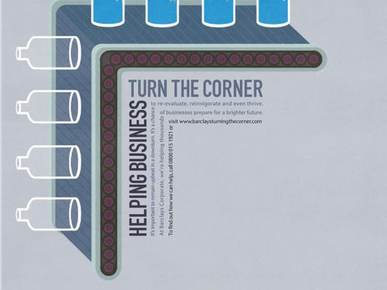 Barclays Print Ad -  Helping business turn the corner, Bottling