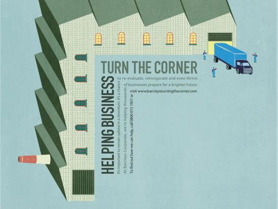 Barclays Print Ad -  Helping business turn the corner, Factory