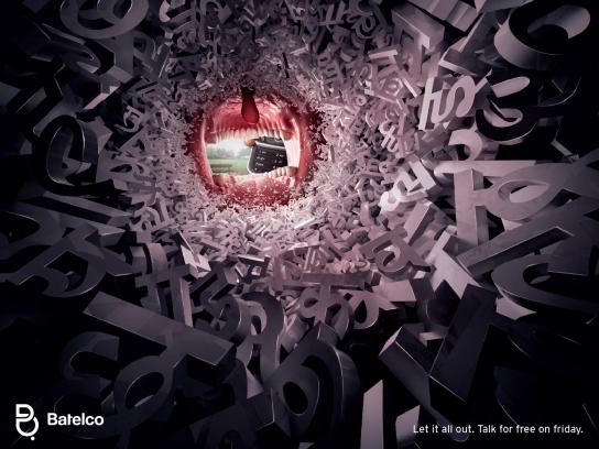 Batelco Print Ad -  Let it all out, Hindi