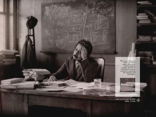 Aspirin Print Ad -  Einstein
