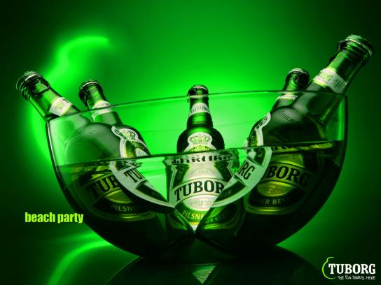 Tuborg Print Ad -  Beach party