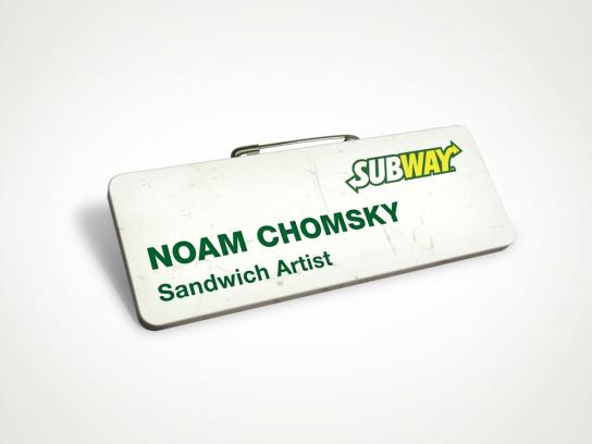 Career One Print Ad -  Chomsky