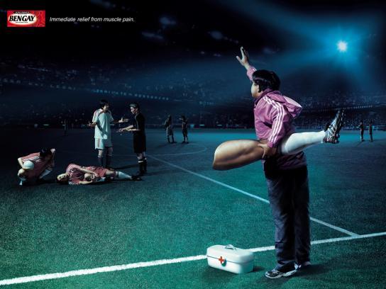 Bengay Print Ad -  Leg