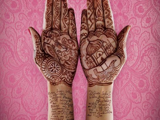 &Beyond Print Ad -  Henna hands