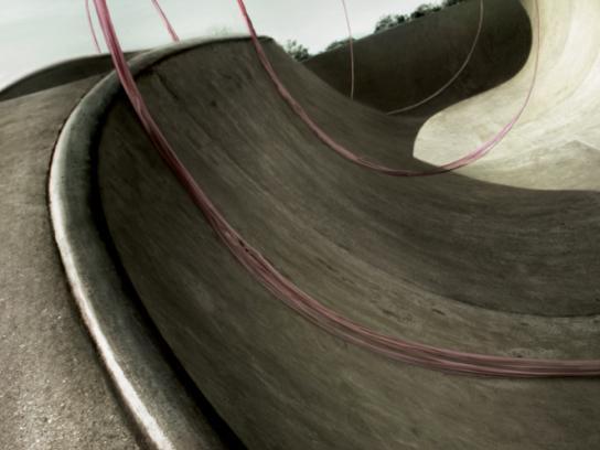 Big Babol Print Ad -  Stretched Gum, Skateboard