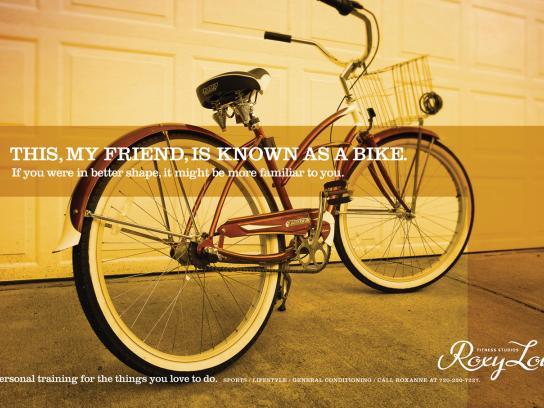 Roxy Lou Print Ad -  Bike