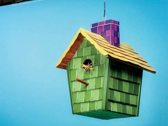 Sherwin-Williams Print Ad -  Color Chips, Birdhouse