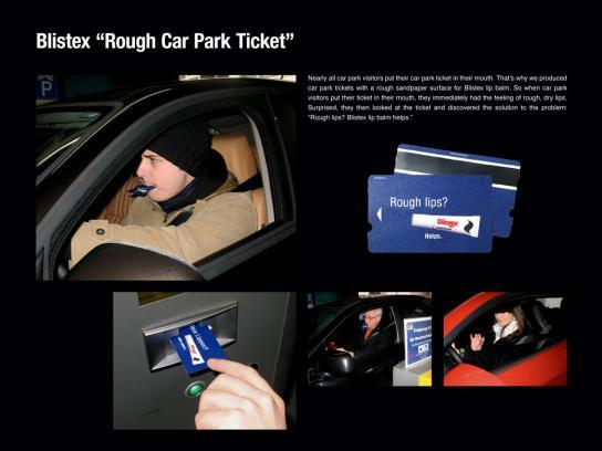 Blistex Ambient Ad -  Rough car park ticket