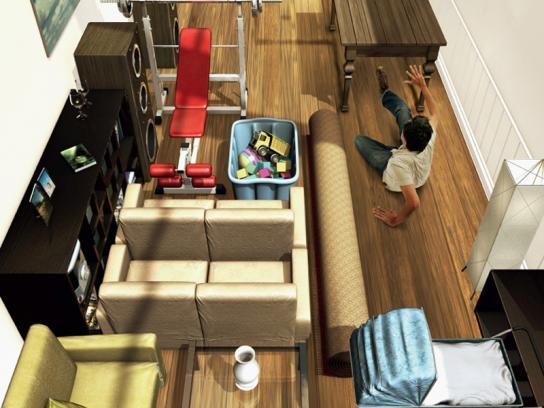 Bluespace Print Ad -  Living room