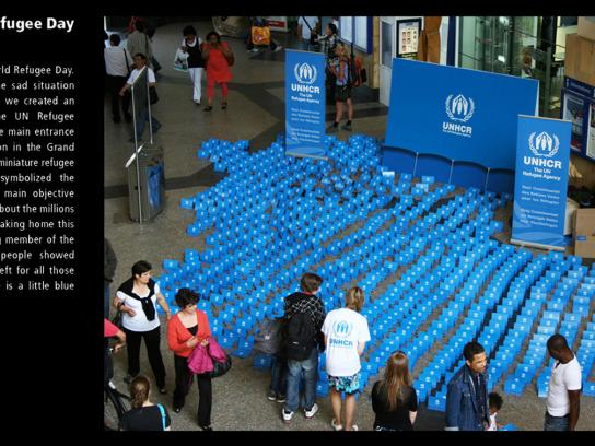 UNHCR Ambient Ad -  Blue tents