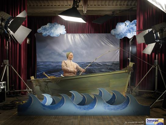 Dramamine Print Ad -  Boat
