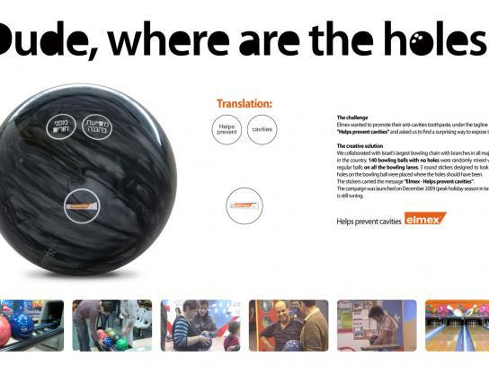 Elmex Ambient Ad -  Bowling ball