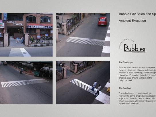 Bubbles Ambient Ad -  Comb crossing