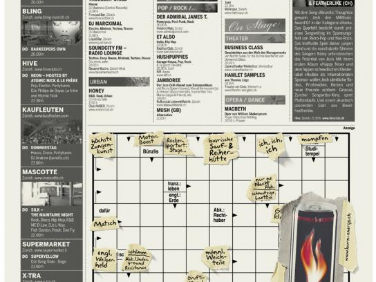 Burn Print Ad -  Crossword