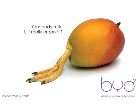 BYO2 Print Ad -  Body milk