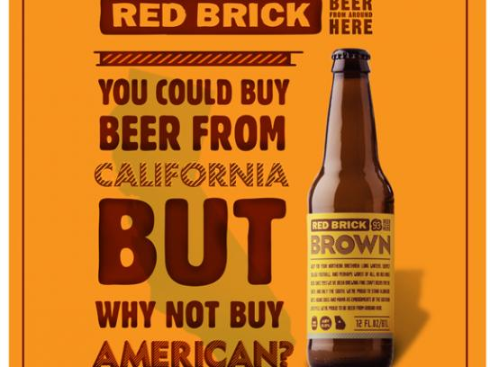 Red Brick Print Ad -  California