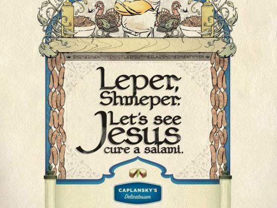 Caplansky's Delicatessen Print Ad -  Leper