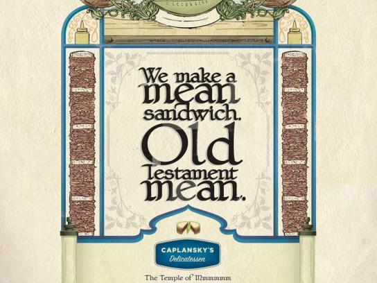 Caplansky's Delicatessen Print Ad -  Mean Sandwich