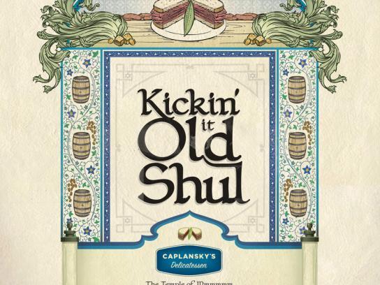 Caplansky's Delicatessen Print Ad -  Old Shul