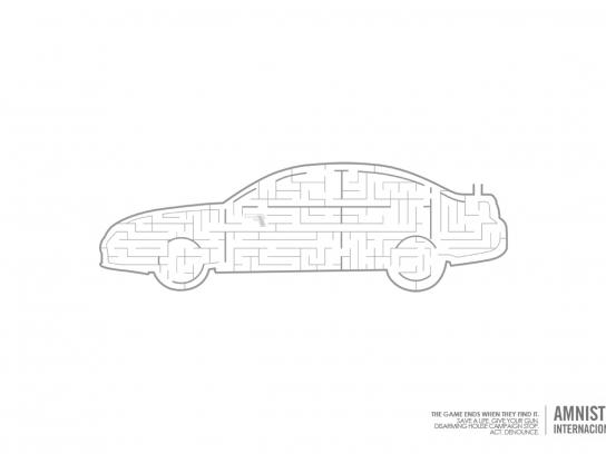 Amnesty International Print Ad -  Car