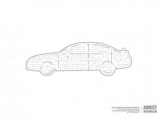 Amnesty International Print Ad -  Car