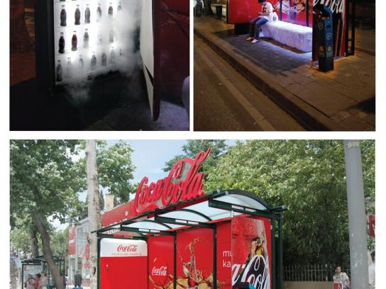 Coca-Cola Ambient Ad -  Refrigerator Bus Shelter