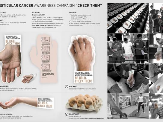 Testicular Cancer Awareness Ambient Ad -  Check Them