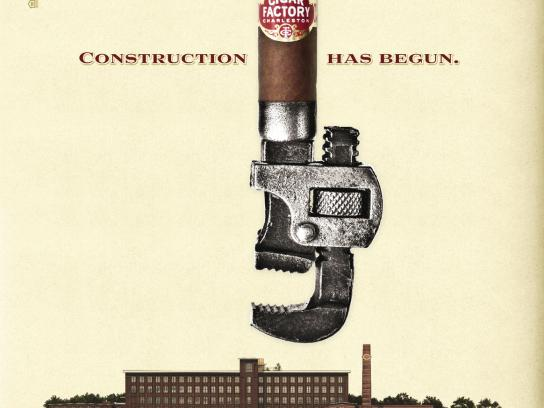 Cigar Factory Print Ad -  Wrench