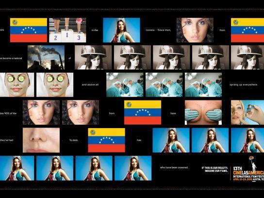 Cine las Américas Print Ad -  Miss Universe