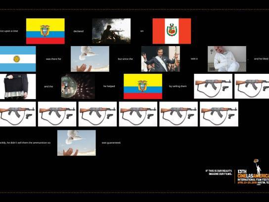 Cine las Américas Print Ad -  War