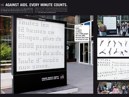 Aids Africa Solidarity Fund Outdoor Ad -  Clocks