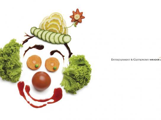 Mirador del Alto Print Ad -  Clown