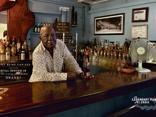 Cruzan Print Ad -  Legendary Rum of St. Croix, Hemingway