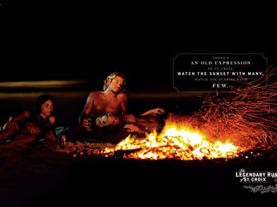 Cruzan Print Ad -  Legendary Rum of St. Croix, Sunset