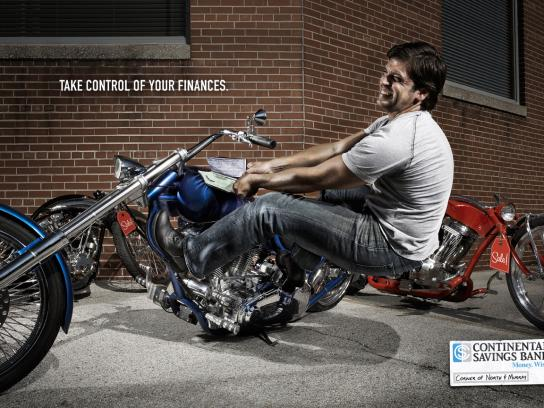 Continental Savings Bank Print Ad -  Checkbook