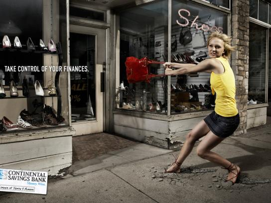 Continental Savings Bank Print Ad -  Purse
