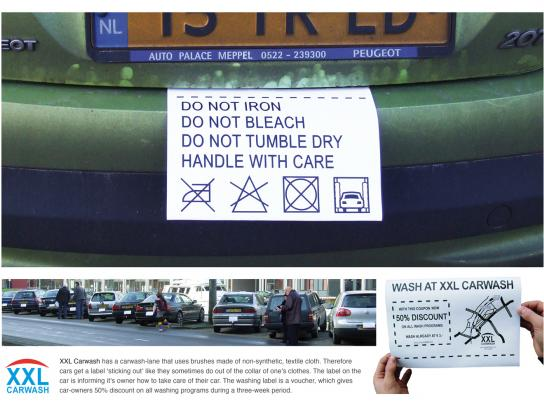 XXL Carwash Ambient Ad -  Care Labels