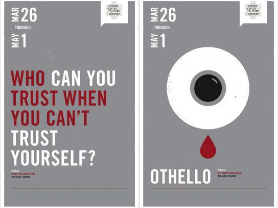 Denver Center Theater Print Ad -  Othello